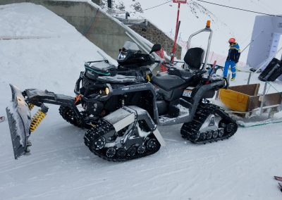 ATV with Tracks and Plow at Resort