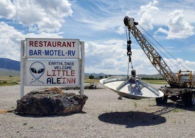 UFO on crane
